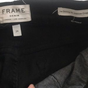 Frame denim cropped destroyed knees